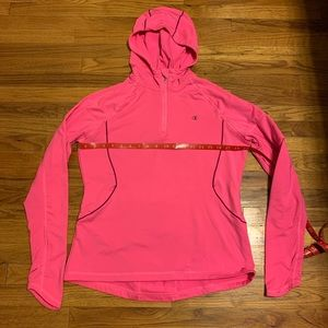 Neon pink fitness pullover
